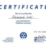 Pedikom certificate